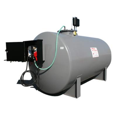 Station fuel pehd double paroi avec pompe 56l mn 2000l for Cuve fuel exterieur